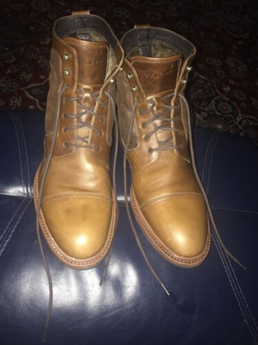 Men's Shoes Size 11.5 M Brown Leather Boots H.S. T