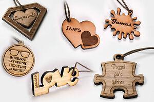 Holz Schlüsselanhänger Individuell Gravur Valentinstag Superheld