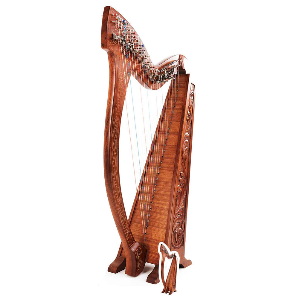 Harp Musical Instrument Cardboard Cutout   Standee   Standup orchestra strings