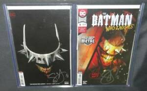 Batman-Who-Laughs-1-Lot-of-Two-2-Comics-A-B-Covers-Signed-Scott-Snyder-Midtown