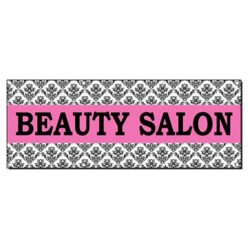 BEAUTY SALON PINK Business Advertisement 3 ft x 6 ft Banner Sign w//6 Grommets