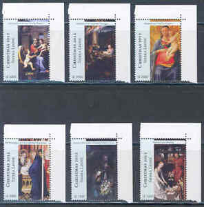 SIERRA-LEONE-2012-CHRISTMAS-SET-OF-SIX-ART-STAMPS