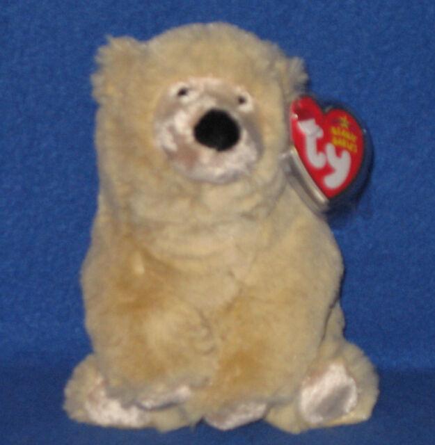 TY PARKA the POLAR BEAR BEANIE BABY - MINT with NEAR MINT TAG