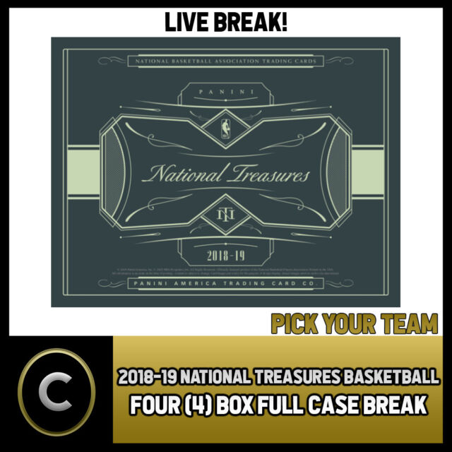 2018-19 PANINI NATIONAL TREASURES BASKETBALL 4 BOX BREAK #B210 - PICK YOUR TEAM