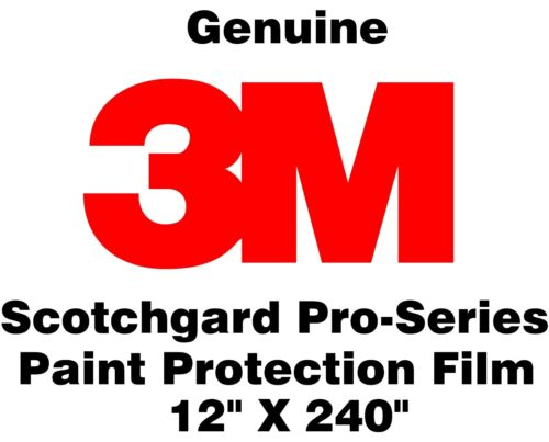 "12/"" x 240/"" Genuine 3M Scotchgard Pro Series Paint Protection Film Clear Bra Roll"