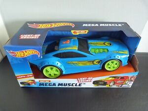 hot wheels mega muscle car drift rod with light up engine & sounds