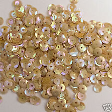 Cream Yellow 5mm Round Cup ~1000 or ~12,500 pieces Loose HQ Sequins Pastel