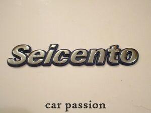 SCRITTA-STEMMA-FIAT-SEICENTO-ORIGINALE-POSTERIORE-logo-emblem-SIGN-schriftzug