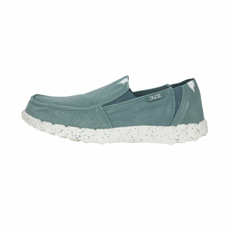 Hey Dude Shoes Men's Farty Washed Teal Slip On Mule