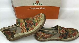 Acorn-Womens-Shoes-Ramblin-Moccasins-Comfort-Earth-Roamer-Flame-Tapestry-Size-7