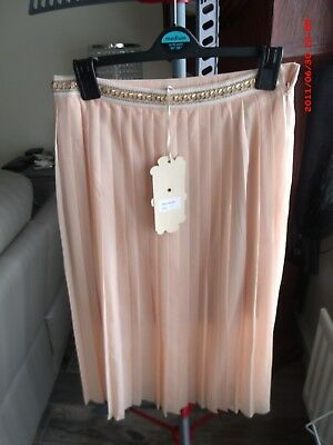 L26inch Skirts Ladies Azaka Peach & Gold Detail Skirt Size Small Women's Clothing