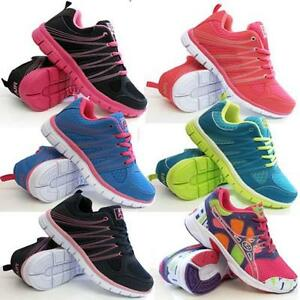 54d53e41d24 Image is loading LADIES-RUNNING-TRAINERS-WOMENS-SHOCK-ABSORBING-SPORTS- WALKING-