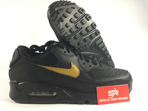 finest selection c68d0 ce85c NIKE AIR MAX 90 V7894-001- MEN'S Black/Gold | Essential Shoes c1 | eBay