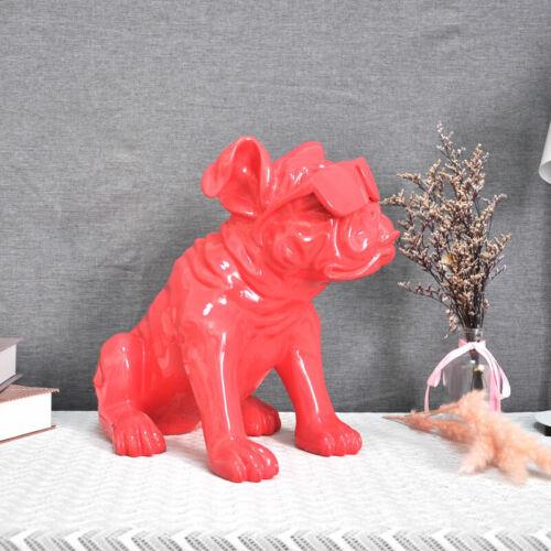 Wearing Glasses Bulldog Figurine HypeBeast Home Decoration Sculpture