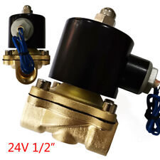 12 Npt 24v Ac Brass Electric Solenoid Valve Normally Colsed For Water Air Gas