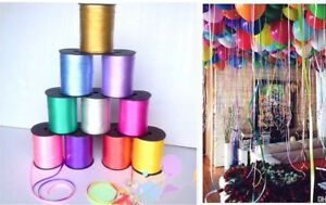 30 METRES Colour Balloon Ribbon Helium Baloon Ribon Birthday Gift Craft Party