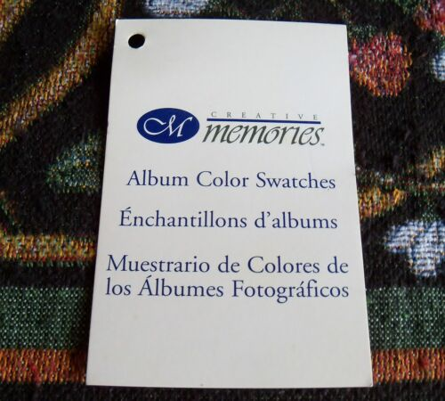 Creative Memories Album Color Swatches #2 16 Different Swatches~Used