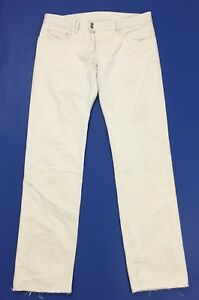 Diesel-jeans-ziprio-uomo-usato-W36-L34-tg-50-bianco-straight-boyfriend-T3129