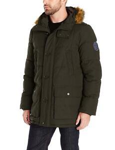 Tommy Hilfiger Mens Full Length Quilted Snorkel Jacket ...