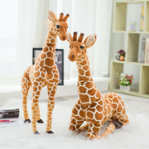 Large Giraffe Plush 60/80cm Stuffed Teddy Bear Life Size Kids Toy Baby Soft