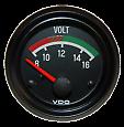 VDO Visage Noir 52 mm Voltmètre Gauge