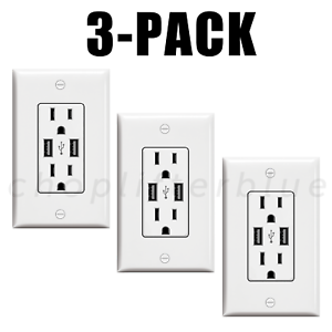 Electrical Outlet Stickers 3-Pack USB Prank Fake Joke Funny Custom Decal Sticker