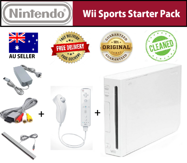 Nintendo Wii Console Gaming Bundle Wii Sports Game White PAL system