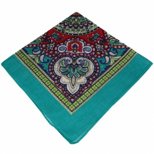 Best Quality Paisley pattered 100/% Cotton Bandana/'s Black White Red Brown
