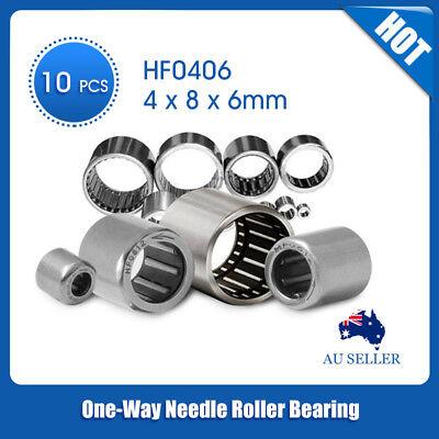 5pcs HF0406 One Way Clutch Miniature Needle Roller Bearing 4mm*8mm*6mm