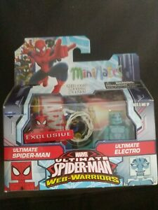 Marvel-Minimates-ULTIMATE-SPIDER-MAN-amp-ULTIMATE-ELECTRO-Walgreens-Exclusive-RARE