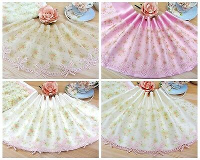 """7.5""""*1Y Embroidered Floral Tulle Lace Trim~Orange+Pink+White~The Gift of Spring~"""