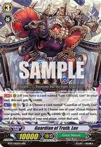 Cardfight Vanguard English BT07//002EN RRR Guardian of Truth Lox