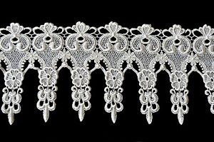 """Lily 6"""" Ivory Floral Victorian Elegant Guipure Venice Lace Trim by Yardage"""