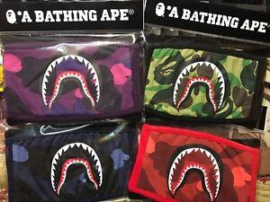 A-Bathing-Ape-Bape-17SS-ABC-Camo-Shark-Bouche-Visage-Masque-couleur-de-5-avec-emballage