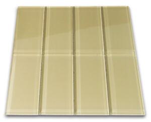 Khaki Glass Subway Tile 3x6 for Backsplashes, Showers ...