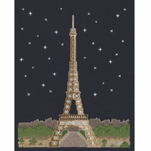 DMC Glow in the D/'Architecture Paris by Night Cross Stitch Kit Mr X Stitch