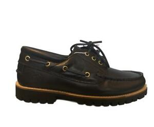 Shoes-Lumberjack-Man-Moccasins-Boat-Black-Real-Leather-Casual