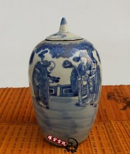 China-old-porcelain-painting-Blue-and-white-pot