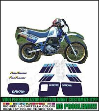 kit adesivi stickers compatibili dr 600 r 1989 dakar