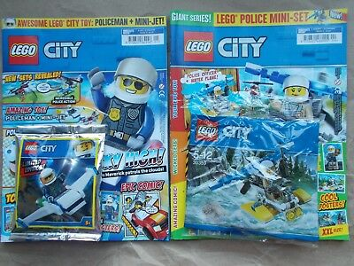 NEW THE LEGO CITY SPECIAL LIMITED EDN MAGAZINE #3 minfigure with shark