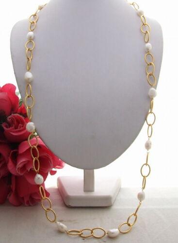 "KE102802 39/"" 15 mm Perle Baroque Chine Collier"