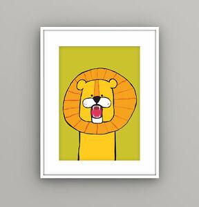 Image Is Loading Nursery Kids Childrens Bedroom Safari Animal Lion Wall