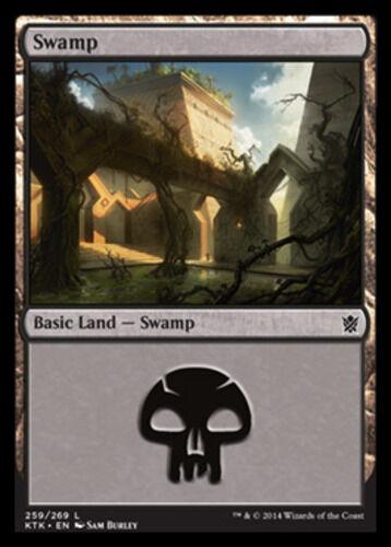 English x4 Swamp 259 MTG Khans of Tarkir C M//NM