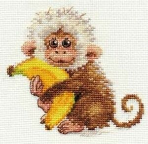 "Counted Cross Stitch Kit ALISA 5-19 /""Unexpected Guest/"""