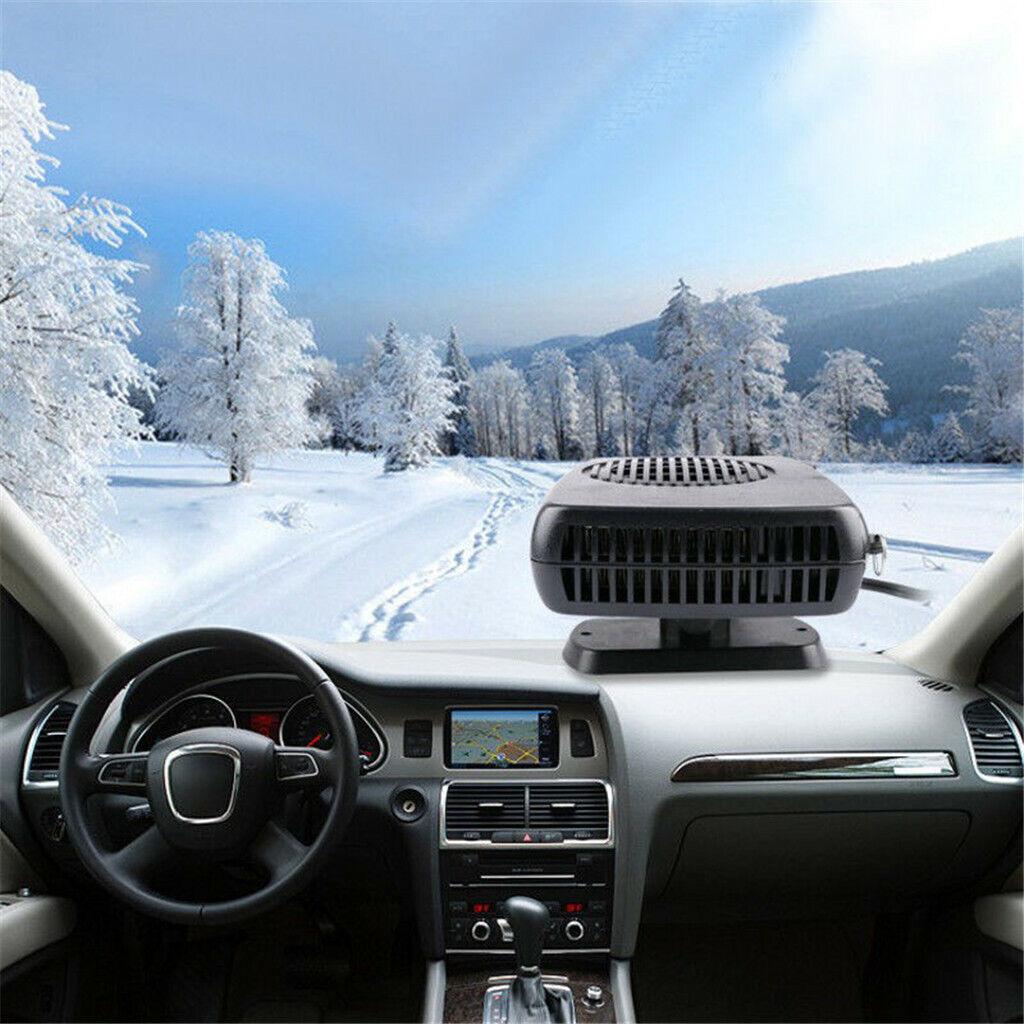 12V Car Portable Electric Heating Cooling Fan Defroster Demister