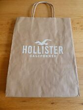 BN Small Hollister Brown Paper Presentation Gift Bag (Clothing Accessory's)