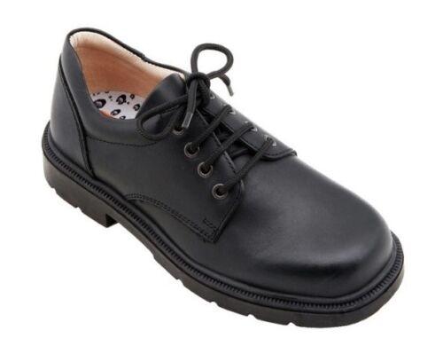 100/% Positive Reviews Petasil Oscar Boys Black Leather F Fit School Shoes