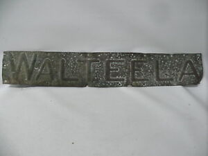 "Antiques Strong-Willed Antique Original House Name Sign ""walteela "" Hammered Copper Promoting Health And Curing Diseases"