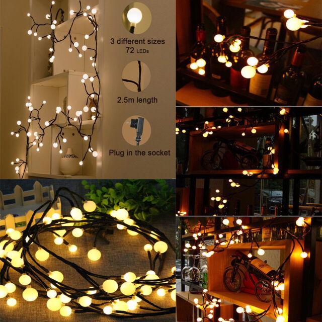 2 5m 72 Led Timer Electric Fairy String Light Christmas Wedding