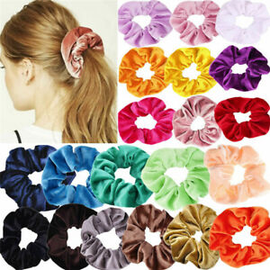 10 Colors Velvet Hair Scrunchies Set Elastic Bobble Hair Bands